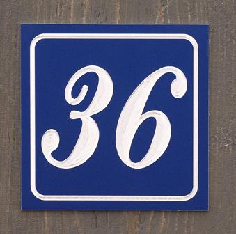 Emaille-look huisnummers