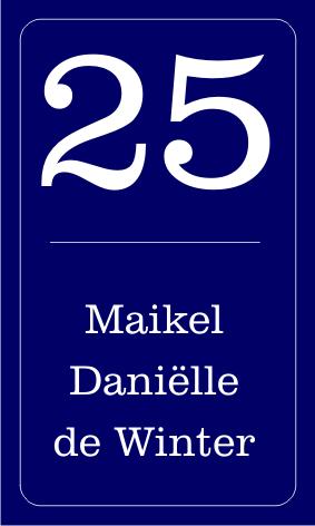 Emaille look naamborden en huisnummers