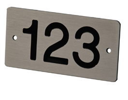 Aluminium huisnummerborden