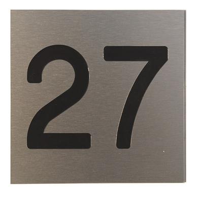 Aluminium huisnummers