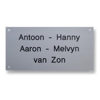 Aluminium naamplaatjes
