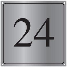 RVS huisnummerborden