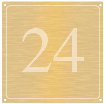 Messing huisnummers