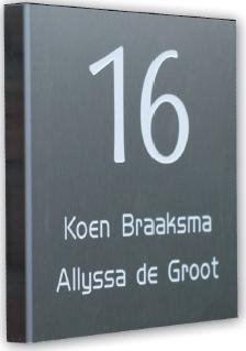 Aluminium gebogen naamborden