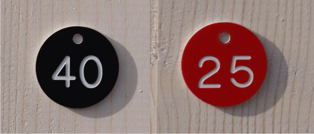 Ronde nummerbordjes